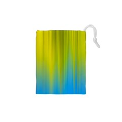 Yellow Blue Green Drawstring Pouches (XS)
