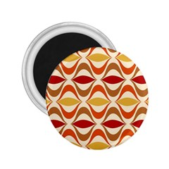Wave Orange Red Yellow Rainbow 2.25  Magnets