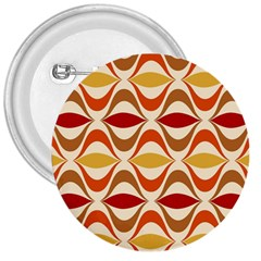 Wave Orange Red Yellow Rainbow 3  Buttons