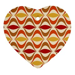 Wave Orange Red Yellow Rainbow Ornament (Heart)