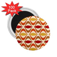 Wave Orange Red Yellow Rainbow 2 25  Magnets (100 Pack)