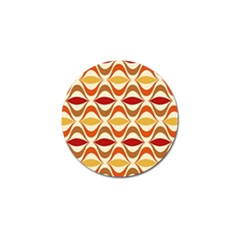 Wave Orange Red Yellow Rainbow Golf Ball Marker