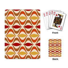 Wave Orange Red Yellow Rainbow Playing Card