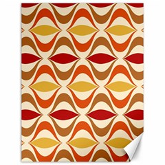 Wave Orange Red Yellow Rainbow Canvas 12  x 16