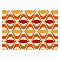 Wave Orange Red Yellow Rainbow Large Glasses Cloth (2-Side)