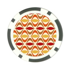 Wave Orange Red Yellow Rainbow Poker Chip Card Guards
