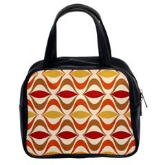 Wave Orange Red Yellow Rainbow Classic Handbags (2 Sides)