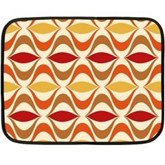 Wave Orange Red Yellow Rainbow Double Sided Fleece Blanket (Mini)