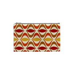 Wave Orange Red Yellow Rainbow Cosmetic Bag (Small)