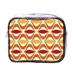 Wave Orange Red Yellow Rainbow Mini Toiletries Bags