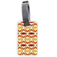 Wave Orange Red Yellow Rainbow Luggage Tags (One Side)
