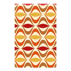 Wave Orange Red Yellow Rainbow Shower Curtain 48  x 72  (Small)