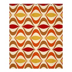 Wave Orange Red Yellow Rainbow Shower Curtain 60  x 72  (Medium)