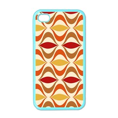 Wave Orange Red Yellow Rainbow Apple iPhone 4 Case (Color)