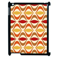 Wave Orange Red Yellow Rainbow Apple iPad 2 Case (Black)