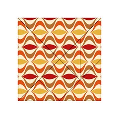 Wave Orange Red Yellow Rainbow Acrylic Tangram Puzzle (4  x 4 )