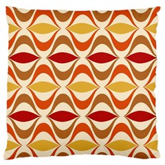 Wave Orange Red Yellow Rainbow Large Cushion Case (Two Sides)
