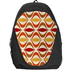 Wave Orange Red Yellow Rainbow Backpack Bag