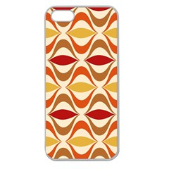 Wave Orange Red Yellow Rainbow Apple Seamless iPhone 5 Case (Clear)