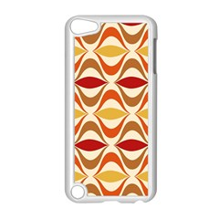 Wave Orange Red Yellow Rainbow Apple iPod Touch 5 Case (White)