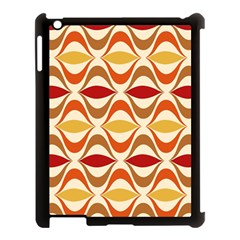 Wave Orange Red Yellow Rainbow Apple iPad 3/4 Case (Black)