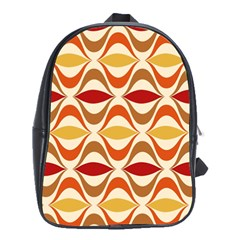 Wave Orange Red Yellow Rainbow School Bags (XL)