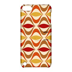 Wave Orange Red Yellow Rainbow Apple iPod Touch 5 Hardshell Case with Stand