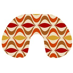 Wave Orange Red Yellow Rainbow Travel Neck Pillows