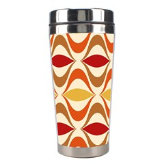Wave Orange Red Yellow Rainbow Stainless Steel Travel Tumblers
