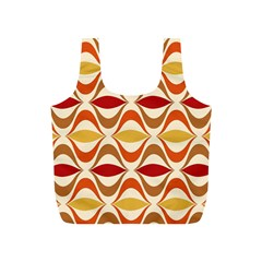 Wave Orange Red Yellow Rainbow Full Print Recycle Bags (S)