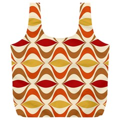 Wave Orange Red Yellow Rainbow Full Print Recycle Bags (L)