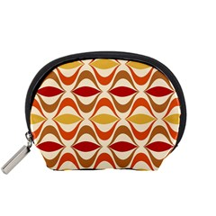 Wave Orange Red Yellow Rainbow Accessory Pouches (Small)