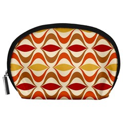 Wave Orange Red Yellow Rainbow Accessory Pouches (Large)