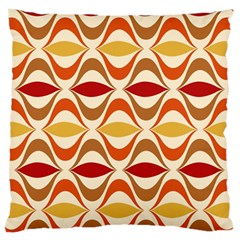 Wave Orange Red Yellow Rainbow Standard Flano Cushion Case (Two Sides)