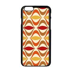 Wave Orange Red Yellow Rainbow Apple iPhone 6/6S Black Enamel Case