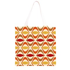 Wave Orange Red Yellow Rainbow Grocery Light Tote Bag
