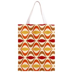 Wave Orange Red Yellow Rainbow Classic Light Tote Bag