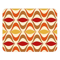 Wave Orange Red Yellow Rainbow Double Sided Flano Blanket (Large)