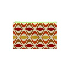 Wave Orange Red Yellow Rainbow Cosmetic Bag (XS)