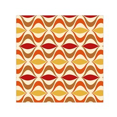 Wave Orange Red Yellow Rainbow Small Satin Scarf (Square)