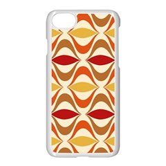 Wave Orange Red Yellow Rainbow Apple iPhone 7 Seamless Case (White)