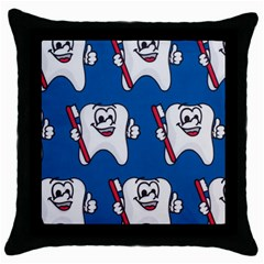 Tooth Throw Pillow Case (Black)