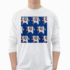 Tooth White Long Sleeve T-Shirts