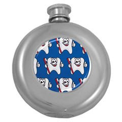 Tooth Round Hip Flask (5 oz)