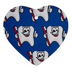 Tooth Heart Ornament (2 Sides)