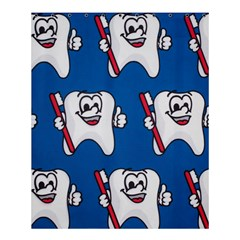 Tooth Shower Curtain 60  x 72  (Medium)