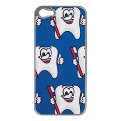 Tooth Apple iPhone 5 Case (Silver)