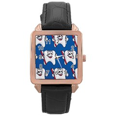 Tooth Rose Gold Leather Watch