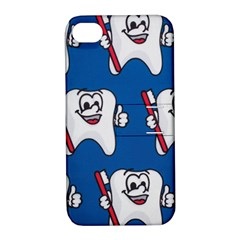 Tooth Apple iPhone 4/4S Hardshell Case with Stand