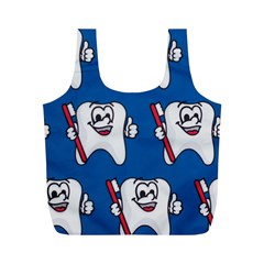 Tooth Full Print Recycle Bags (M)
